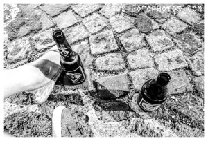 Drinking on the streets.