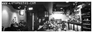 Sake Bar Ginn. 6x18 medium format pinhole camera 86mm f/215 + Fuji Acros
